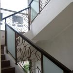 (BL-R008) Glass panel on balustrade