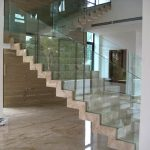 (BL-R016) Staircase glass