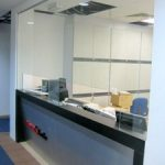 (CN-C 009)Clear glass panel counter