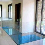 (FL-C 002) Glass floor on top of water pond