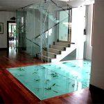 (FL-C003) Staircase landing floor glass