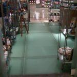 (FL-C004) Retail shop illuminated glass floor