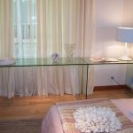 (FU-R011) Glass side table in the bedroom