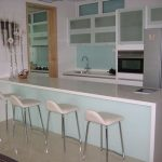 (WN-R009) Glass wall at open kitchen counter