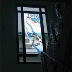 (AL-R007) Fixed Glass panel on staircase landing area