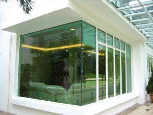 Fix panel glasswall glass