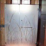(SB-D009) Sandblasting design shower screen