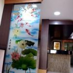 (SB-D016) A prosperous art glass design panel