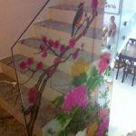 (SB-D025) Flower design on staircase