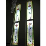 (ST-D003) Leaded art glass allow lights to come in