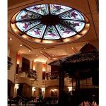 (ST-D008 ) Leaded art glass adds nice ambiance to any space
