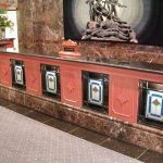 (ST-D014) Art glass panels in reception counter