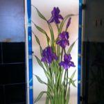 (ST-D031) Flower motif design art glass