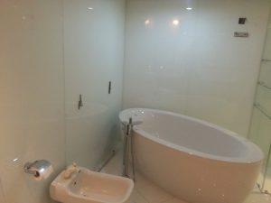 bathtub wall