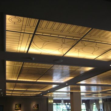 Colour your ceiling with Decorative Glass