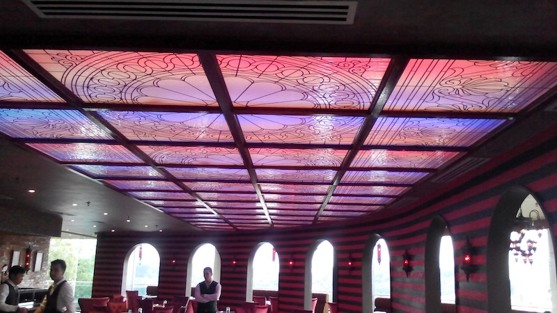Colour Your Ceiling With Decorative Glass Glass Network