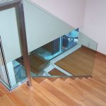 (BL-R011) Staircase glass balustrade and glass panels