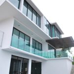 (BL-R018) Frameless glass balustrade