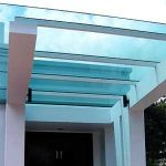 (CP-R002) Grand glass canopy to entrance door