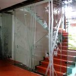 (DO-R016) Staircase sliding Glass
