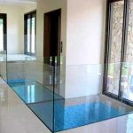 (FL-C 002) Glass floor on top of water pond