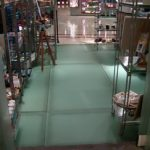(FL-C004) Retail shop illuminated glass floor