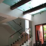 (FL-C006) Glass Flooring above