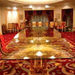 (FU-R005) Majestic floral design long official dining table