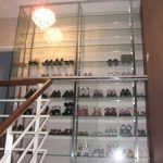 (FU-R013) Glass shelves shoes