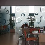 (PA-C004) Glass panels partition