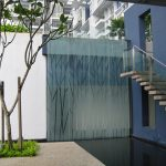 (PA-C007) Glass partition feature wall