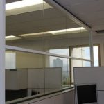 (PA-C021) Office ceiling height glass partition