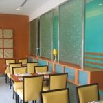 (PA-C023) Restaurant glass partition