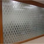(PA-C024) Sandblasted design wall partition