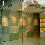 (WL-C 006)Dual color glass wall