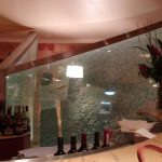 (WL-C 008) Shattered glass design restaurant entrance
