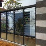 (AL-R006) Fixed glass panel