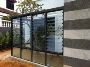 Glass Fence with frame