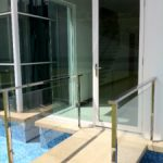 (AL-R010) Glass entrance door