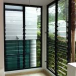 (AL-R017) Glass louvres