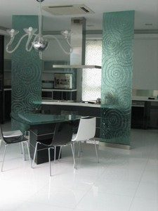 (KF-D007) Kiln form glass partition
