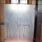 (SB-D009) Sandblasting design shower screen