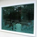 (SB-D012) A fix window panel with glass design