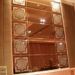 (SB-D023) Sandblast design on mirror