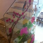 (SB-D025) Flower design on staircase