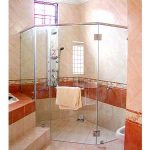 (SS-R001) Custom sized glass shower screen