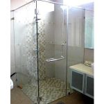 (SS-R003) Corner frameless shower screen