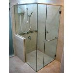 (SS-R004) Custom designed corner shower screen