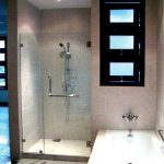 (SS-R008) Side hung frameless shower screen