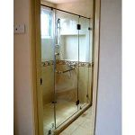 (SS-R009) Top hung glass shower screen